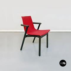 Vico Magistretti Set of red Villabianca chairs by Vico Magistretti for Cassina 1985 - 2089162