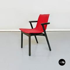 Vico Magistretti Set of red Villabianca chairs by Vico Magistretti for Cassina 1985 - 2089165