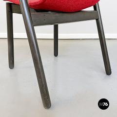 Vico Magistretti Set of red Villabianca chairs by Vico Magistretti for Cassina 1985 - 2089167