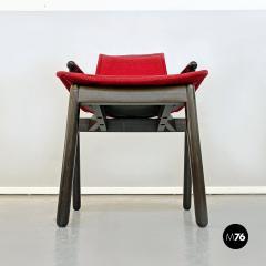 Vico Magistretti Set of red Villabianca chairs by Vico Magistretti for Cassina 1985 - 2089168