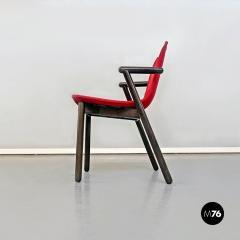 Vico Magistretti Set of red Villabianca chairs by Vico Magistretti for Cassina 1985 - 2089178