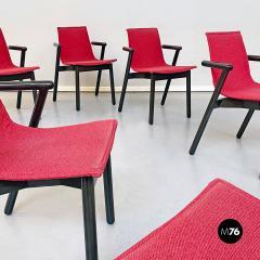 Vico Magistretti Set of red Villabianca chairs by Vico Magistretti for Cassina 1985 - 2089184