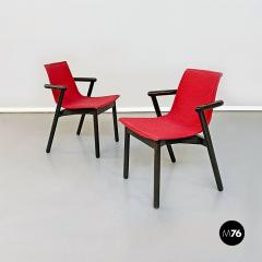 Vico Magistretti Set of red Villabianca chairs by Vico Magistretti for Cassina 1985 - 2089186
