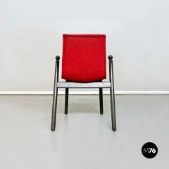 Vico Magistretti Set of red Villabianca chairs by Vico Magistretti for Cassina 1985 - 2089189