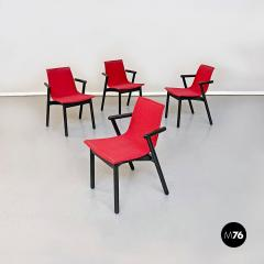 Vico Magistretti Set of red Villabianca chairs by Vico Magistretti for Cassina 1985 - 2089197