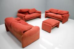 Vico Magistretti Vico Magistretti Living Room Set Maralunga Sofa and Stool Cassina Italy 1973 - 1167944