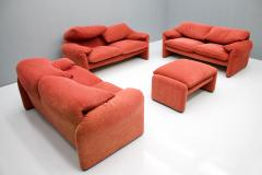 Vico Magistretti Vico Magistretti Living Room Set Maralunga Sofa and Stool Cassina Italy 1973 - 1167945