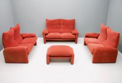 Vico Magistretti Vico Magistretti Living Room Set Maralunga Sofa and Stool Cassina Italy 1973 - 1167946