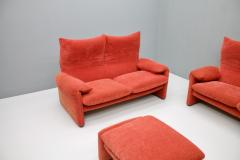Vico Magistretti Vico Magistretti Living Room Set Maralunga Sofa and Stool Cassina Italy 1973 - 1167947