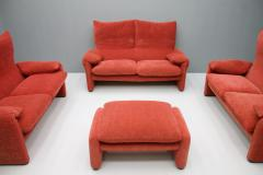 Vico Magistretti Vico Magistretti Living Room Set Maralunga Sofa and Stool Cassina Italy 1973 - 1167949