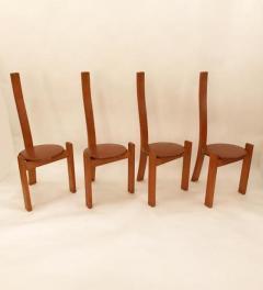 Vico Magistretti Vico Magistretti Modernist Table and Chair Set model Golem Italy 1970s - 380782