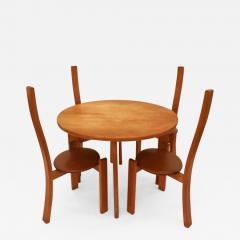 Vico Magistretti Vico Magistretti Modernist Table and Chair Set model Golem Italy 1970s - 383438