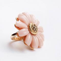Victoire de Castellane Dior Joaillerie Pink Opal Flower Ring - 599258