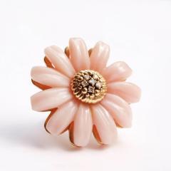 Victoire de Castellane Dior Joaillerie Pink Opal Flower Ring - 599270
