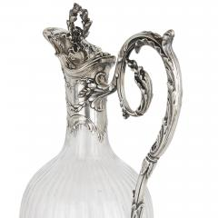 Victor Boivin Pair of Rococo style silver mounted crystal jugs by Boivin - 1569841