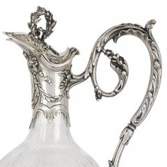 Victor Boivin Pair of Rococo style silver mounted crystal jugs by Boivin - 1569843