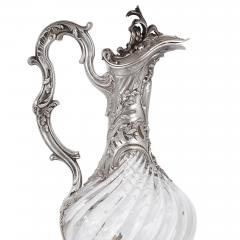 Victor Boivin Two glass and silver ewers by Victor Boivin - 1588312