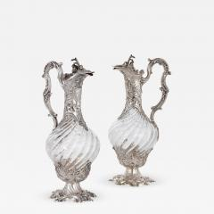 Victor Boivin Two glass and silver ewers by Victor Boivin - 1590039