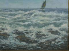 Victor Shearer Massive Oil Painting of a Coastal Seascape by Victor Shearer circa 1934 - 1127060