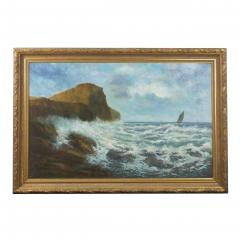 Victor Shearer Massive Oil Painting of a Coastal Seascape by Victor Shearer circa 1934 - 1127062