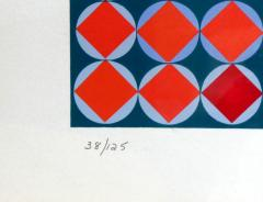 Victor Vasarely Bold Geometric Print by Victor Vasarely - 200568