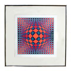 Victor Vasarely Bold Geometric Print by Victor Vasarely - 200570