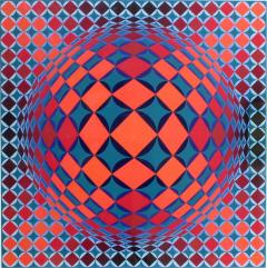Victor Vasarely Bold Geometric Print by Victor Vasarely - 200576