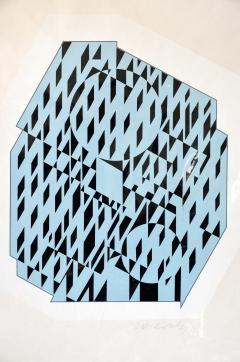 Victor Vasarely NETHE Signed and numbered Silkscreen Print by Victor Vasarely - 981377