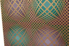 Victor Vasarely Signed Victor Vasarely Op Art Serigraph Vilag with COA - 1749214