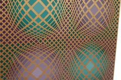 Victor Vasarely Signed Victor Vasarely Op Art Serigraph Vilag with COA - 1749215
