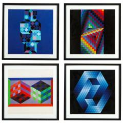 Victor Vasarely Victor Vasarely Gestalt Series Prints by Editions du Griffon Switzerland 1971 - 1564114