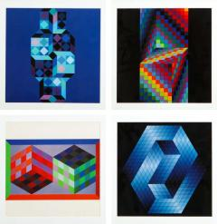 Victor Vasarely Victor Vasarely Gestalt Series Prints by Editions du Griffon Switzerland 1971 - 1564802