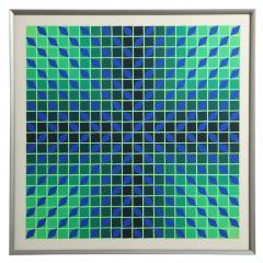 Victor Vasarely Victor Vasarely Op Art Framed Serigraph - 912388