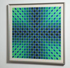 Victor Vasarely Victor Vasarely Op Art Framed Serigraph - 912389