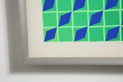 Victor Vasarely Victor Vasarely Op Art Framed Serigraph - 912391