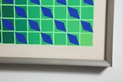 Victor Vasarely Victor Vasarely Op Art Framed Serigraph - 912392