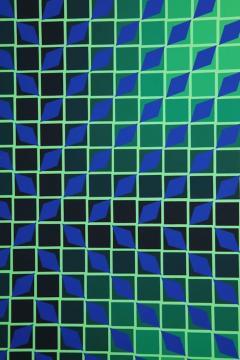 Victor Vasarely Victor Vasarely Op Art Framed Serigraph - 912393