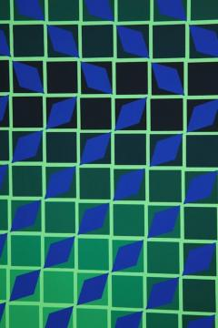 Victor Vasarely Victor Vasarely Op Art Framed Serigraph - 912394