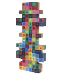 Victor Vasarely Victor Vasarely Painted Wood Sculpture - 525829