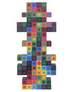 Victor Vasarely Victor Vasarely Painted Wood Sculpture - 525831
