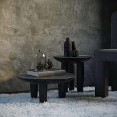 Victoria Yakusha Pair of Ash Contemporary Coffee Tables by FAINA - 1838391