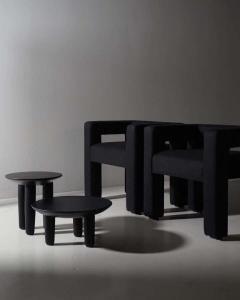 Victoria Yakusha Pair of Ash Contemporary Coffee Tables by FAINA - 1838394