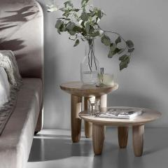 Victoria Yakusha Pair of Ash Contemporary Coffee Tables by FAINA - 1838413
