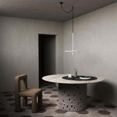 Victoria Yakusha Sculpted Contemporary Dining Table by FAINA - 1839163