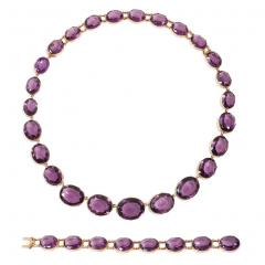 Victorian Amethyst and Gold Necklace Converts to Shorter Rivi res and Bracelets - 1096081