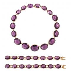 Victorian Amethyst and Gold Necklace Converts to Shorter Rivi res and Bracelets - 1096082