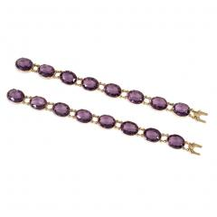 Victorian Amethyst and Gold Necklace Converts to Shorter Rivi res and Bracelets - 1096083