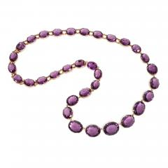Victorian Amethyst and Gold Necklace Converts to Shorter Rivi res and Bracelets - 1106998