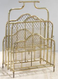 Victorian Brass Magazine Stand - 774759