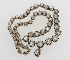 Victorian Cushion Cut Diamond Necklace - 181547